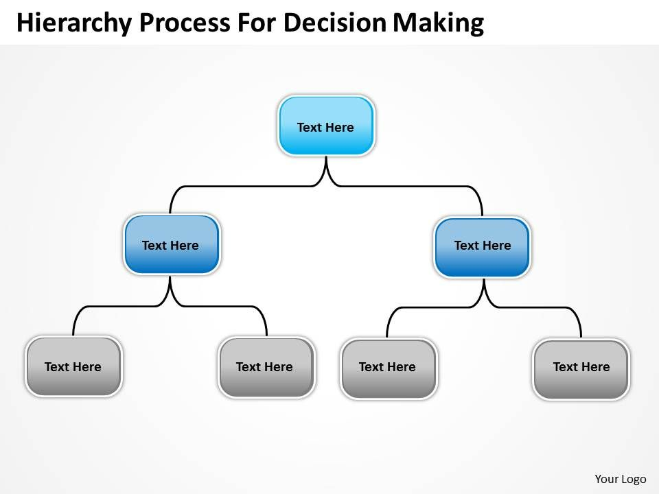 Company Organization Charts Hierarchy Process For Decision Making Point Templates 0515 Slide01