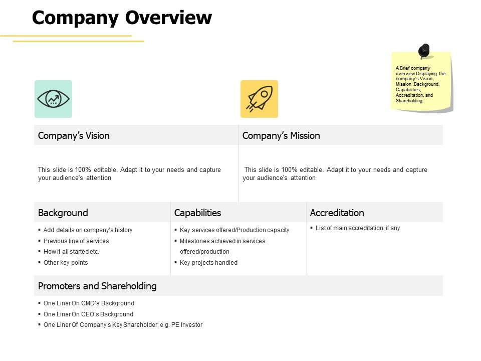 Company Overview Mission Vision Ppt Powerpoint Presentation Professional Picture