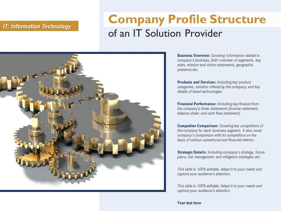 Company Profile Structure Of An IT Solution Provider