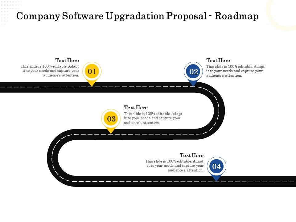 Company Software Upgradation Proposal Roadmap Ppt Powerpoint Presentation File Sample