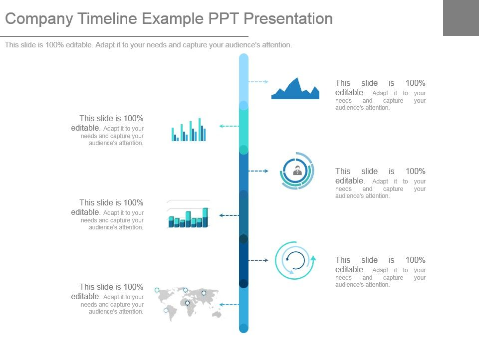 company timeline example ppt presentation