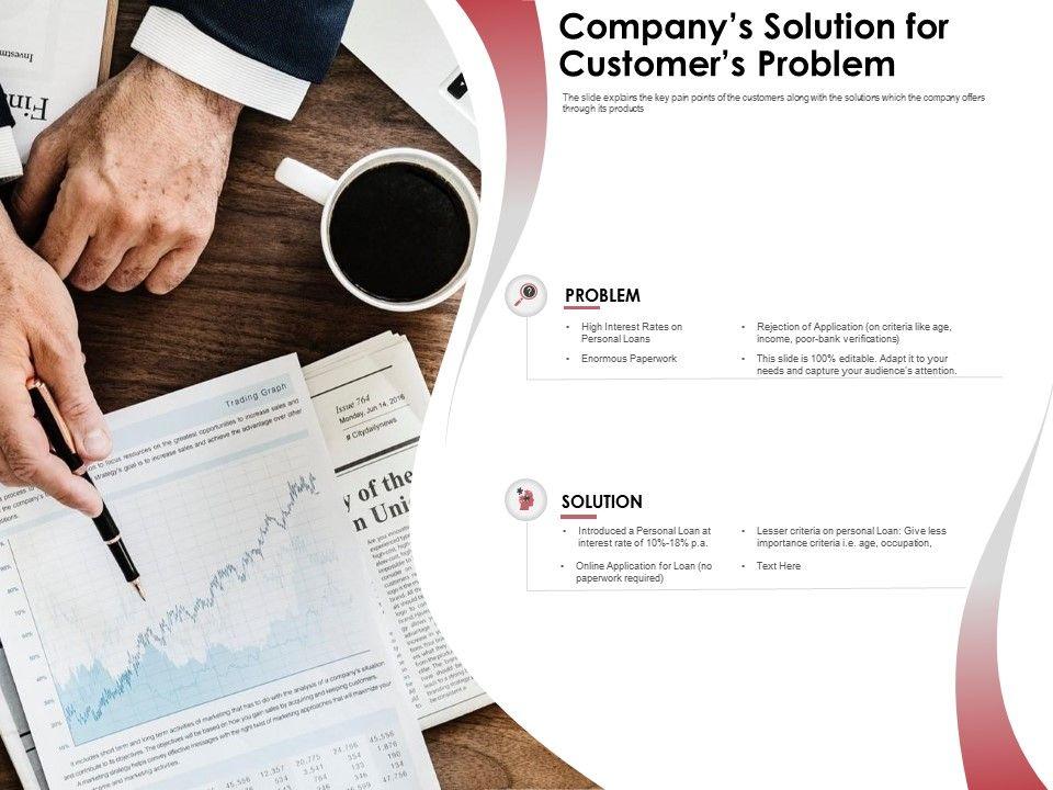 Companys Solution For Customers Problem Rejection Application Ppt Powerpoint Presentation Portrait