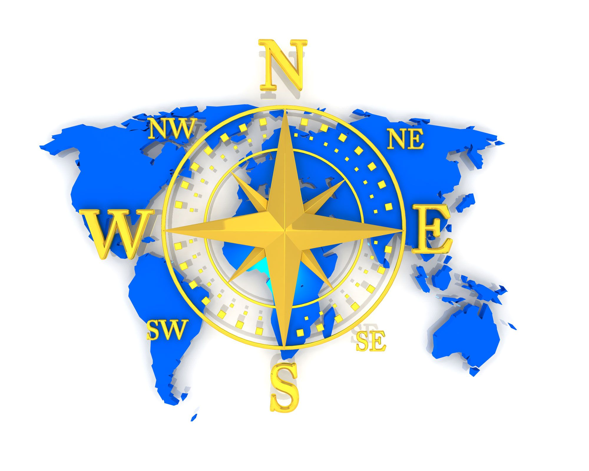 Us Map With Directions Compass With Directions On World Map Stock Photo | PowerPoint