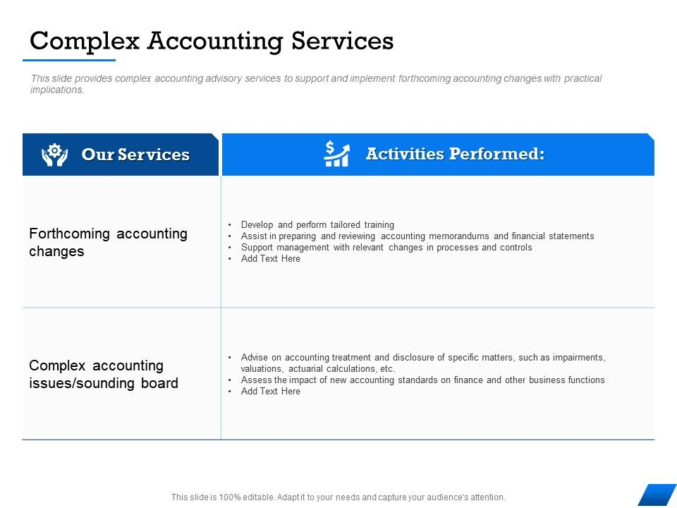 Complex Accounting Services Specific Matters Ppt Powerpoint Presentation Inspiration Elements