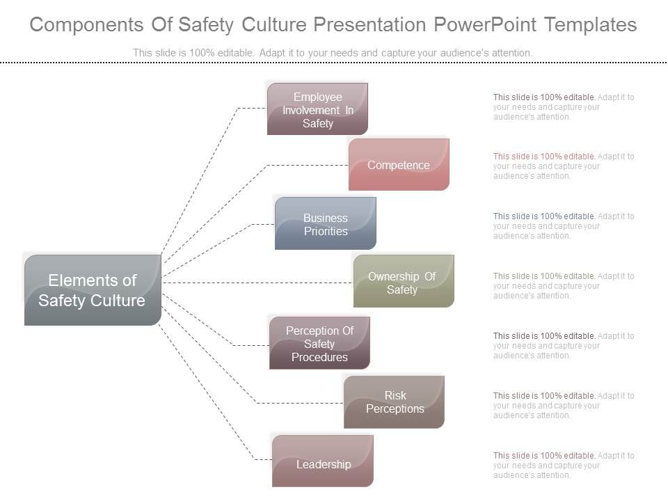 Components Of Safety Culture Presentation Powerpoint