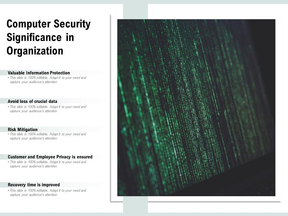 Computer Security Significance In Organization Powerpoint Slides Diagrams Themes For Ppt Presentations Graphic Ideas