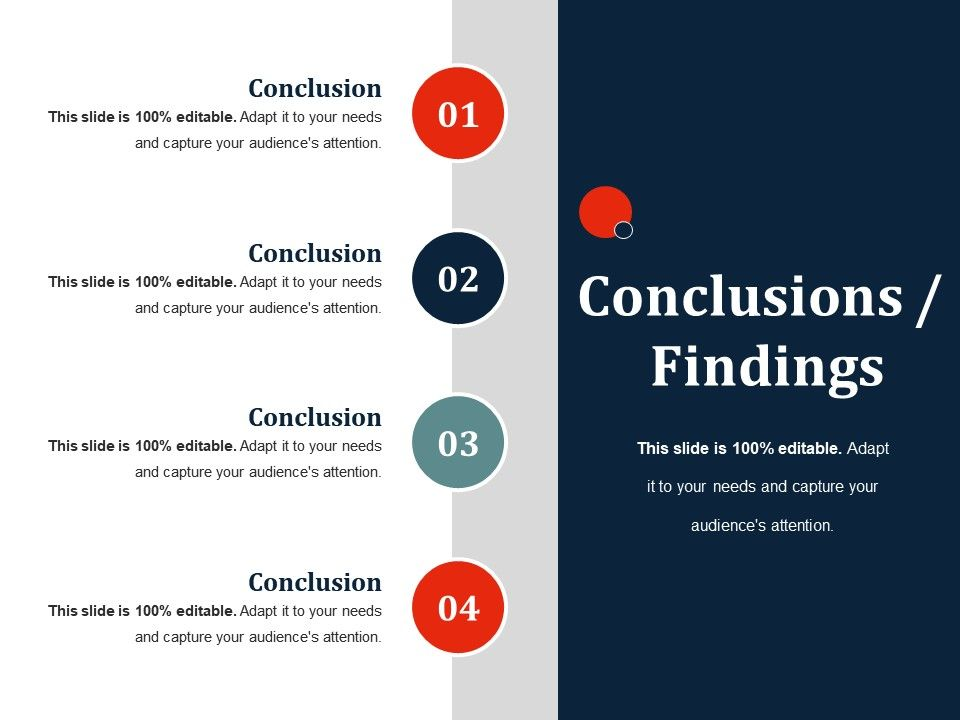Conclusions Findings Ppt Slides Rules Presentation