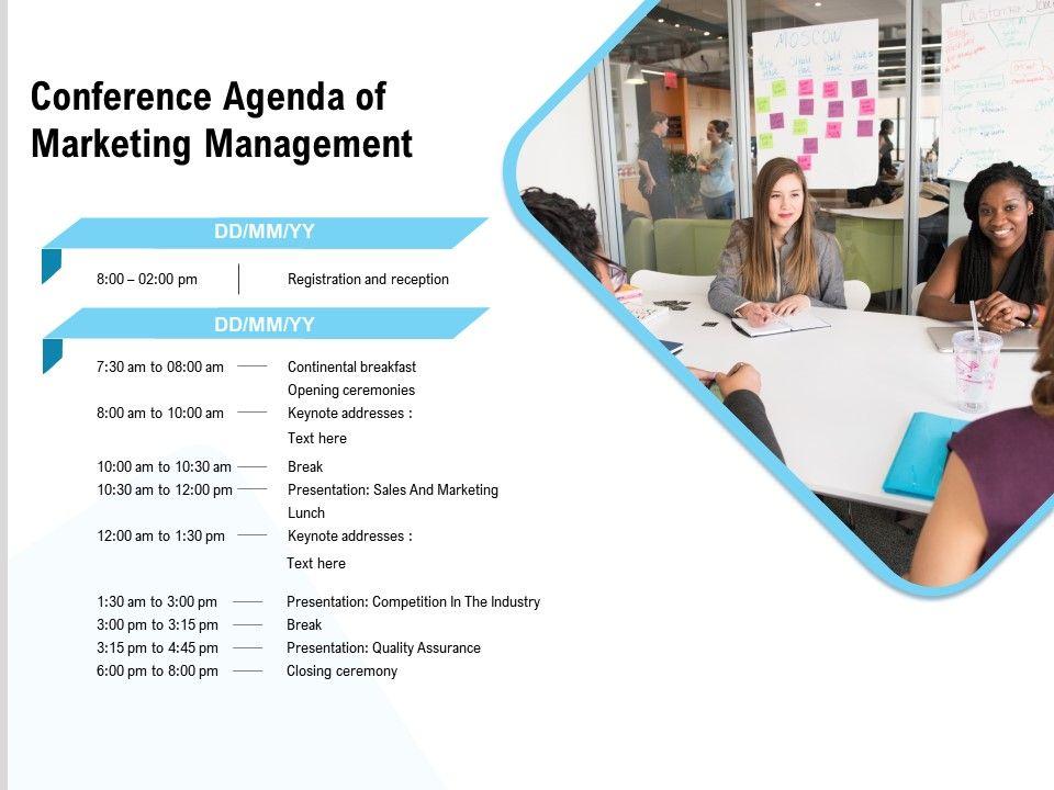 Conference Agenda Of Marketing Management