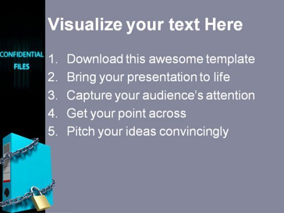 how to put confidential in powerpoint
