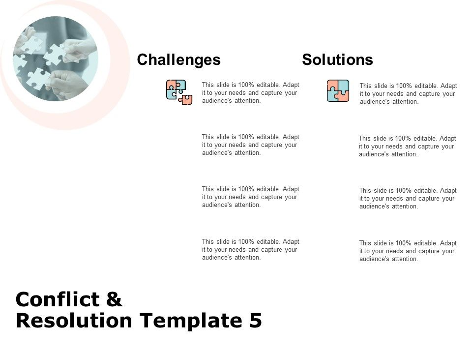 Conflict And Resolution Template Problem Solving Ppt Powerpoint