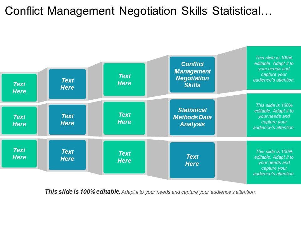 conflict management negotiation skills statistical methods data
