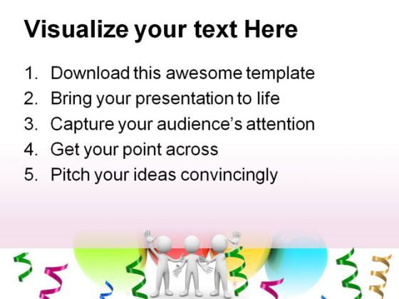 Congratulation And Celebration Metaphor Powerpoint Templates And