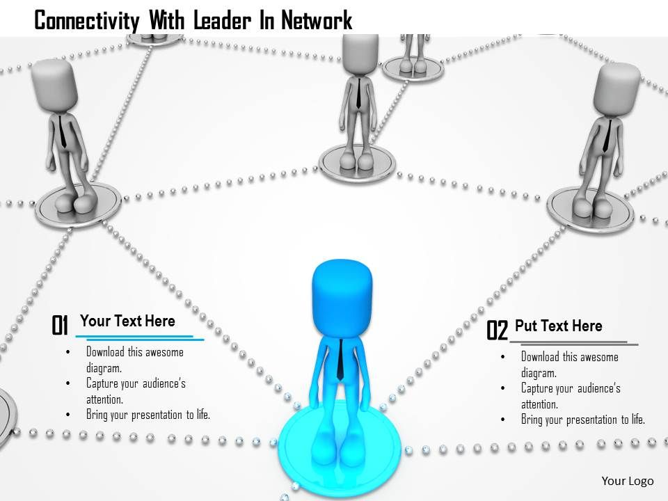connectivity_with_leader_in_network_ppt_graphics_icons_Slide01