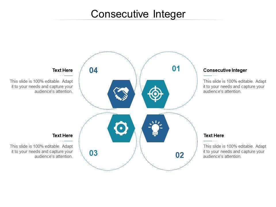 Consecutive Integer Ppt Powerpoint Presentation Show Design Inspiration Cpb