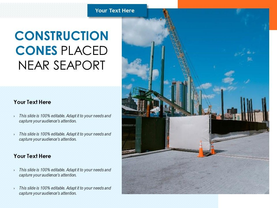 Construction Cones Placed Near Seaport