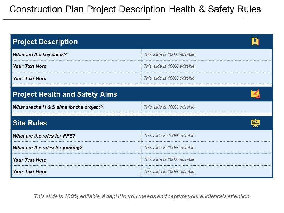 Construction Plan Project Description Health And Safety