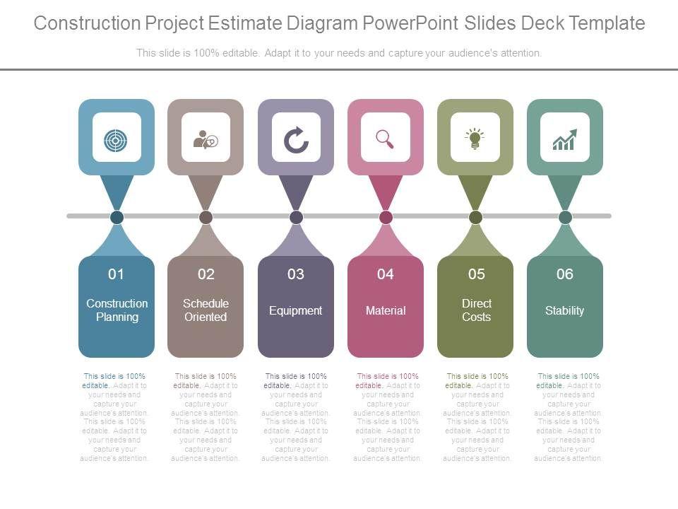 construction project estimate diagram powerpoint slides deck