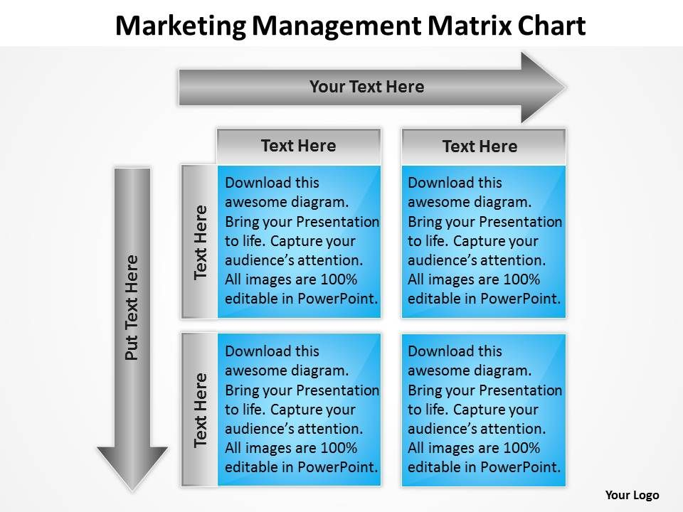consulting companies management matrix chart powerpoint templates