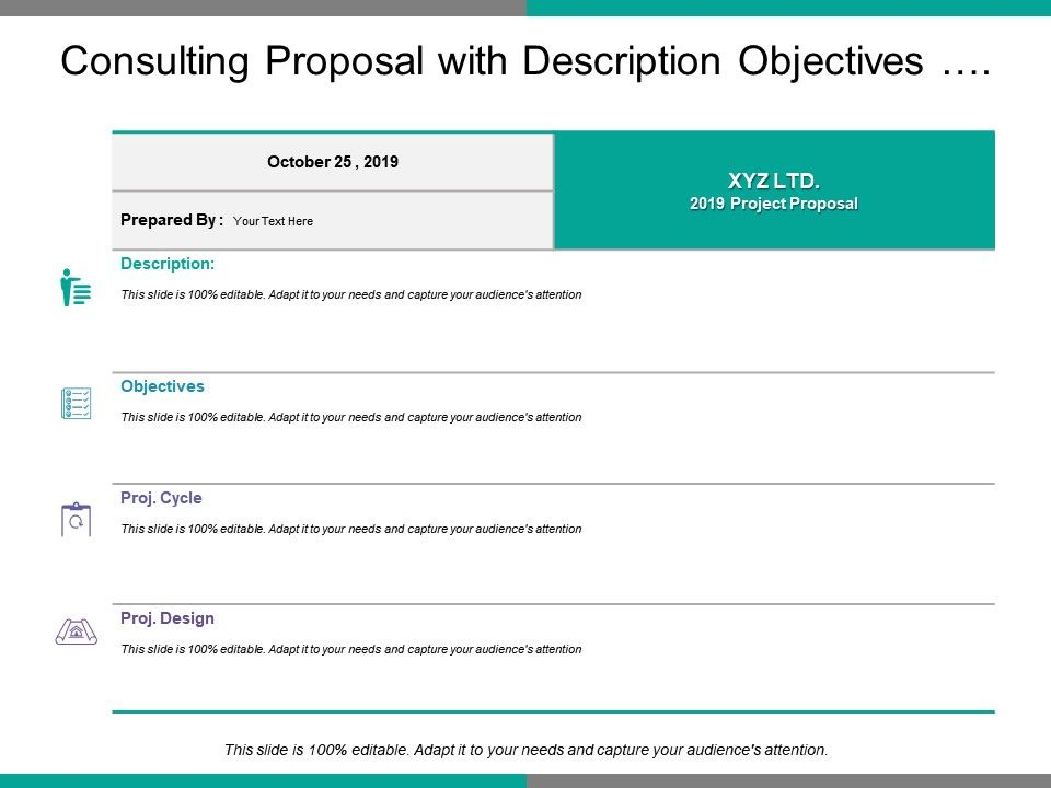 Consulting Proposal With Description Objectives