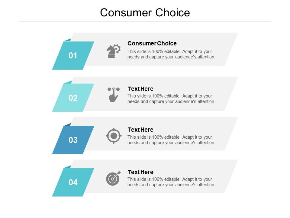 Consumer Choice Ppt Powerpoint Presentation Show Maker Cpb