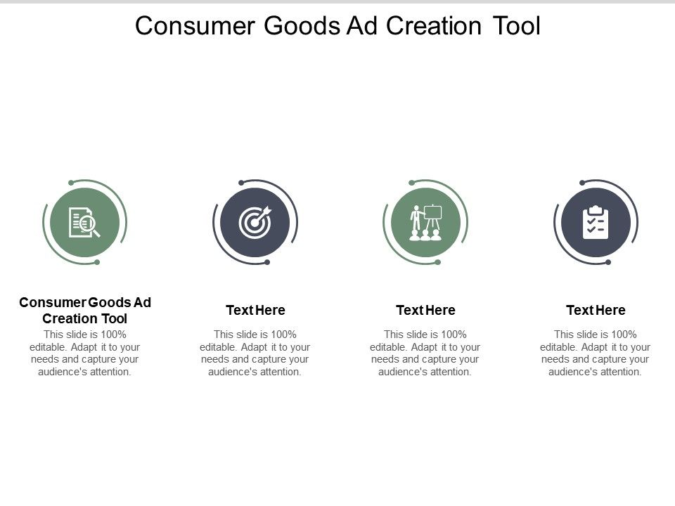 Consumer Goods Ad Creation Tool Ppt Powerpoint Presentation