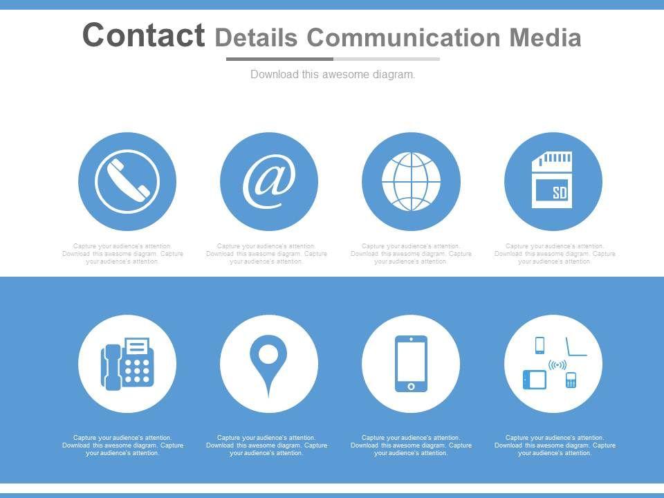 Contact Details Communication Media Ppt Slides | Templates ...