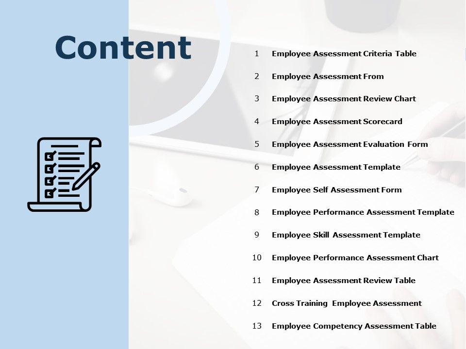 Content Employee Assessment From Employee Assessment Scorecard C818 Ppt Powerpoint Presentation