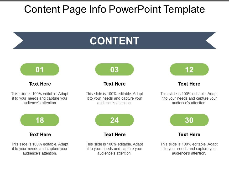 Content Page Info Powerpoint Template Powerpoint Presentation Slides Ppt Slides Graphics Sample Ppt Files Template Slide
