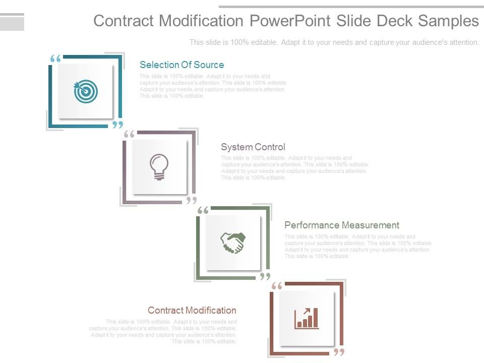 Contract Modification Template from www.slideteam.net
