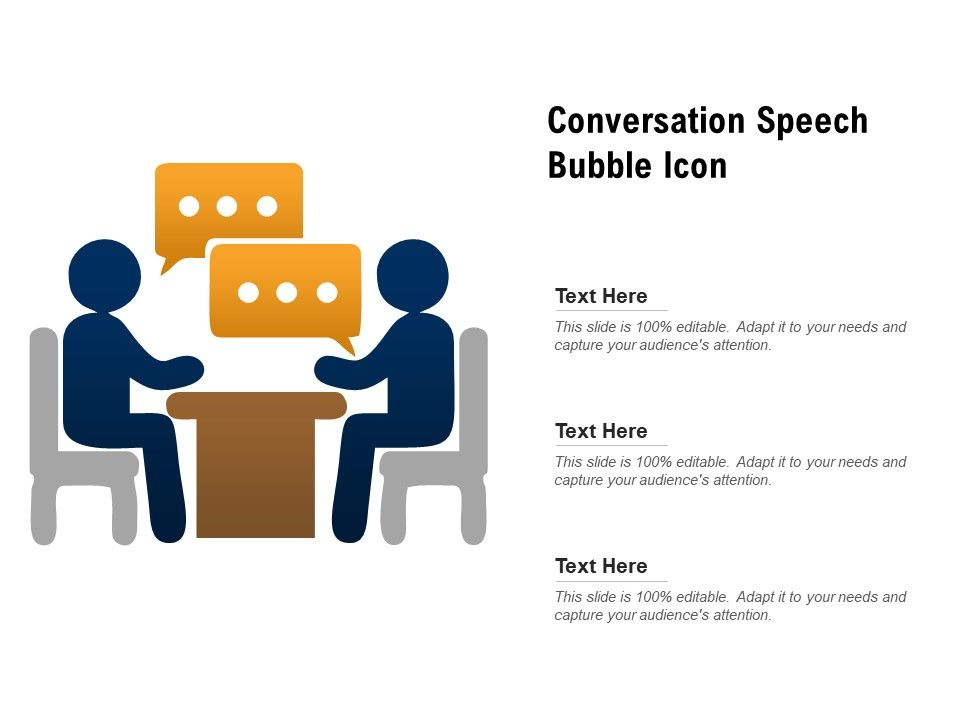 Conversation Speech Bubble Icon