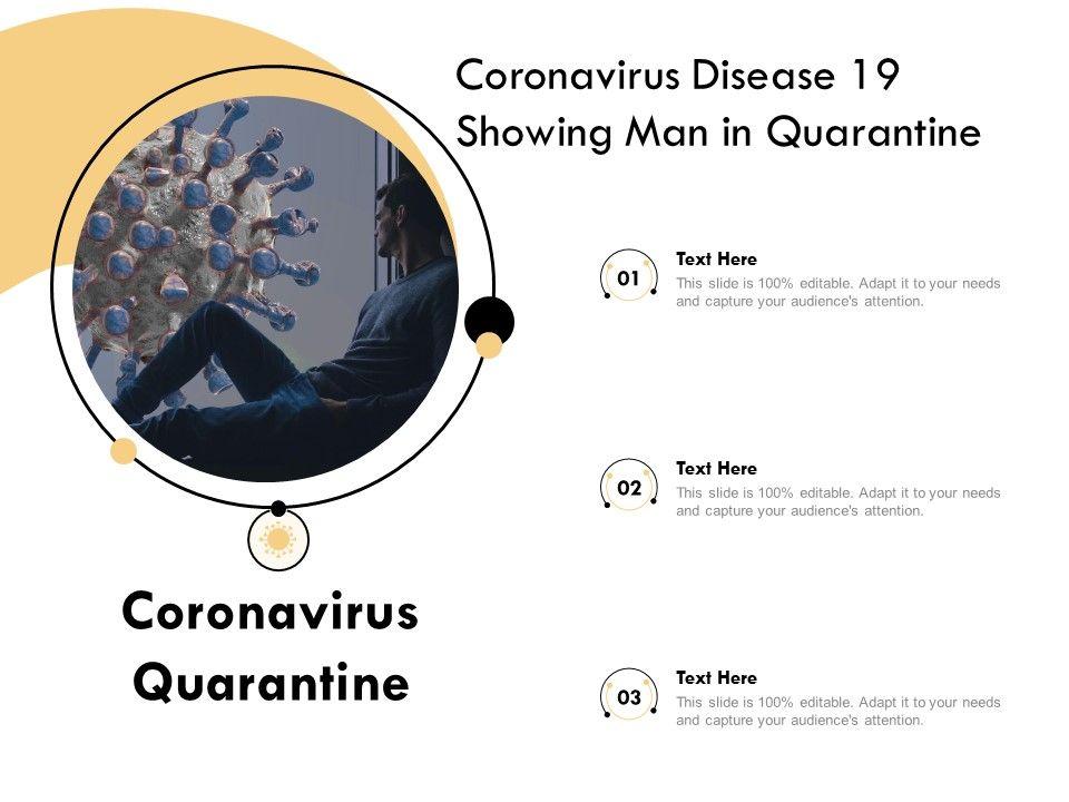Coronavirus Disease 19 Showing Man In Quarantine