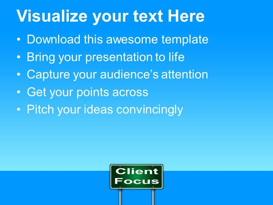 Corporate Business Strategy Powerpoint Templates Client Focus Ppt