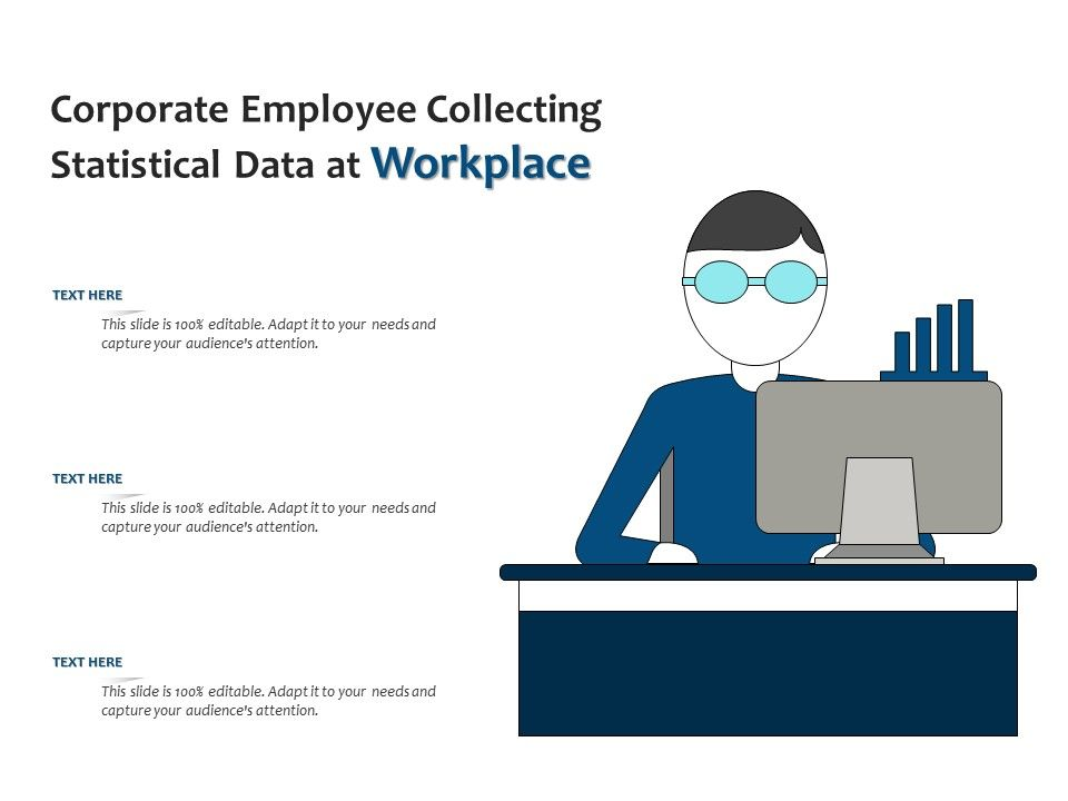 Corporate Employee Collecting Statistical Data At Workplace
