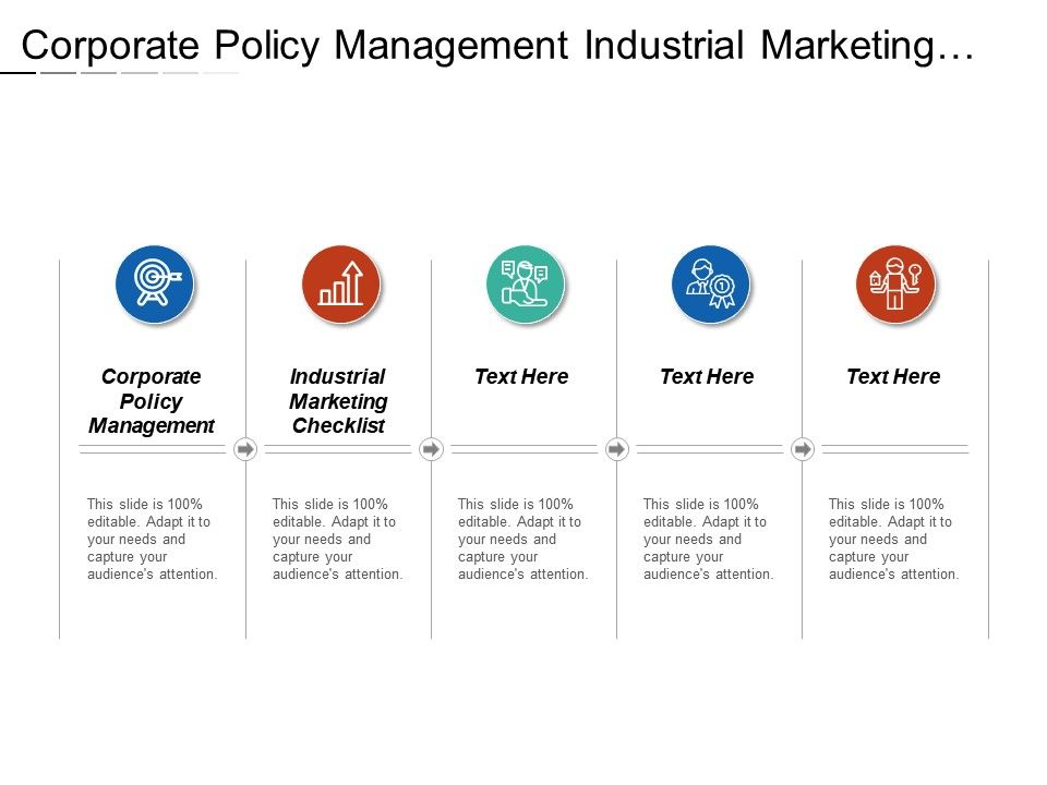 Corporate Policy Management Industrial Marketing Checklist