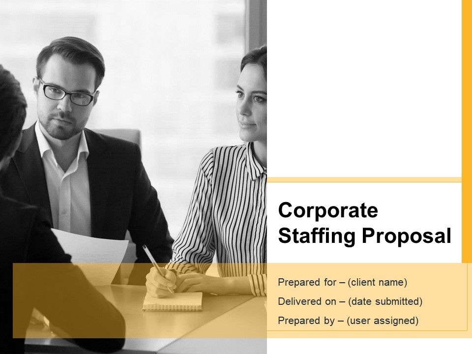 Corporate Staffing Proposal Powerpoint Presentation Slides