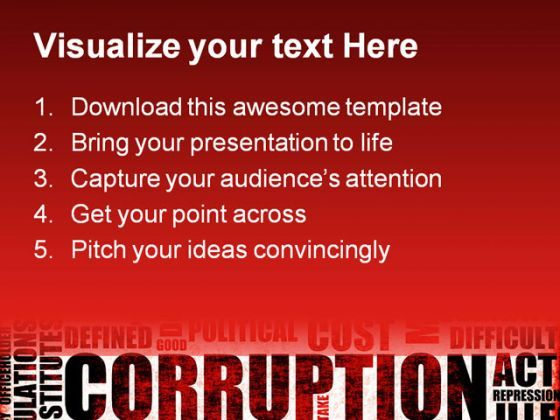 corruption business powerpoint templates and powerpoint backgrounds