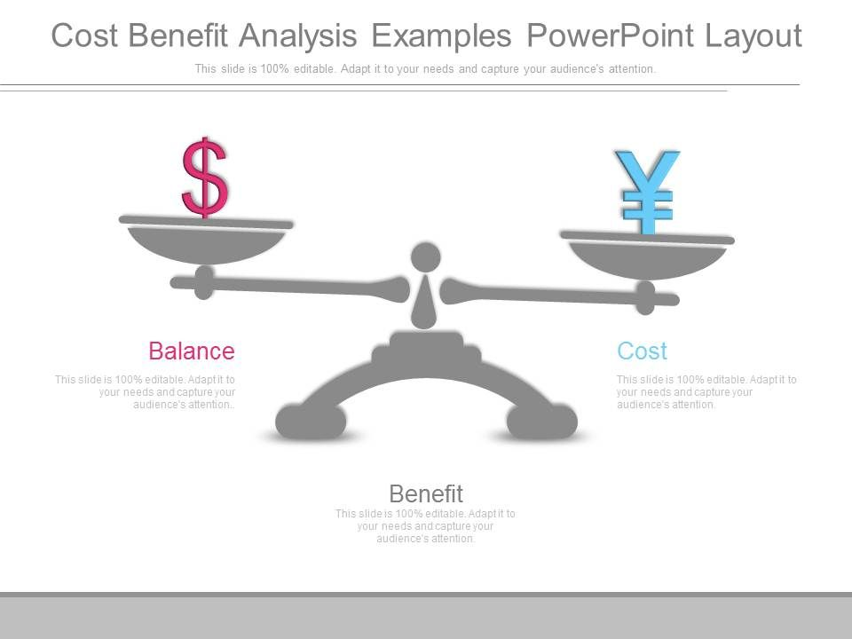 Cost Benefit Analysis Examples Powerpoint Layout | Powerpoint