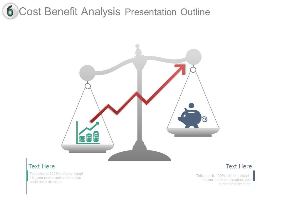 event cost analysis template - cost benefit analysis presentation outline powerpoint