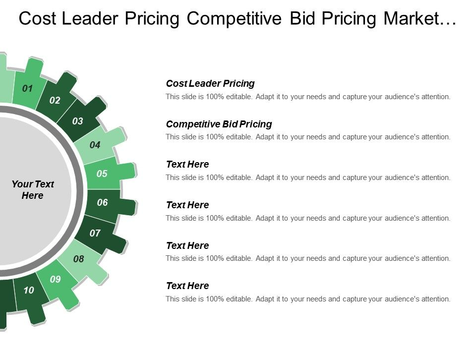 cost_leader_pricing_competitive_bid_pricing_market_variability_Slide01