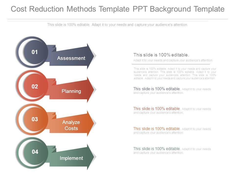 Cost Reduction Methods Template Ppt Background Slide01 Slide02