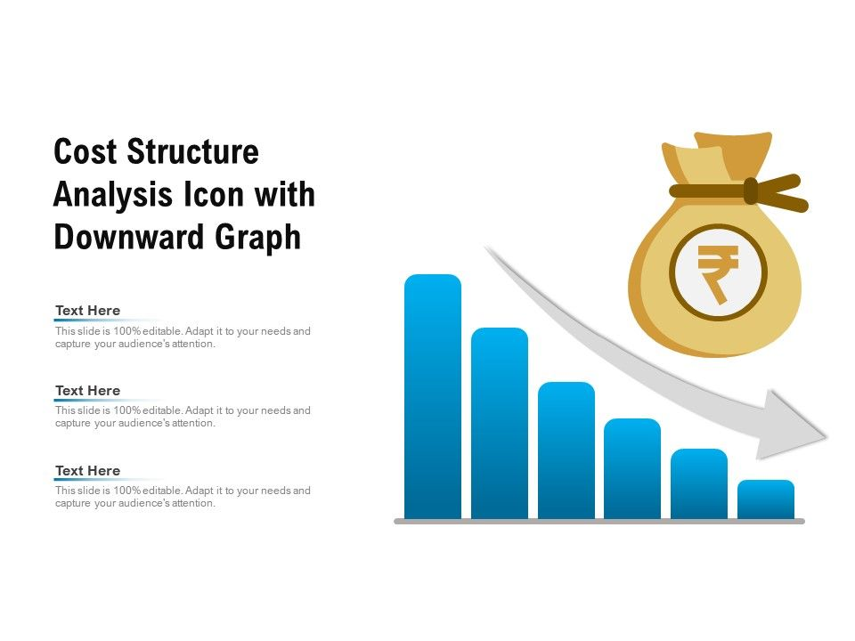 cost structure analysis icon with downward graph powerpoint slides diagrams themes for ppt presentations graphic ideas slideteam