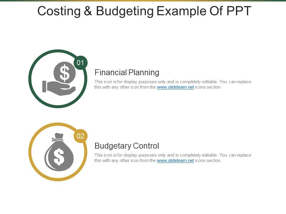 Costing And Budgeting Example Of Ppt   PowerPoint Slide Template