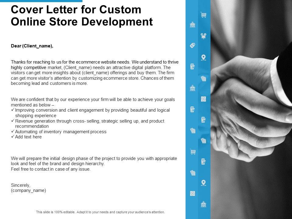 Cover Letter For Custom Online Store Development Ppt ...