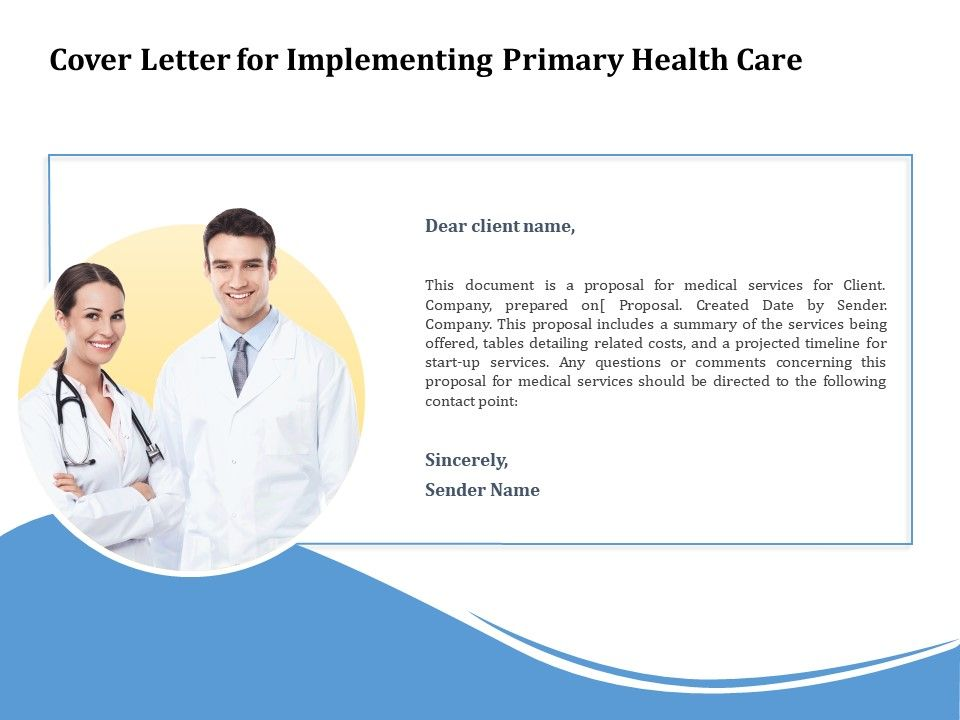 Cover Letter For Implementing Primary Health Care Ppt ...