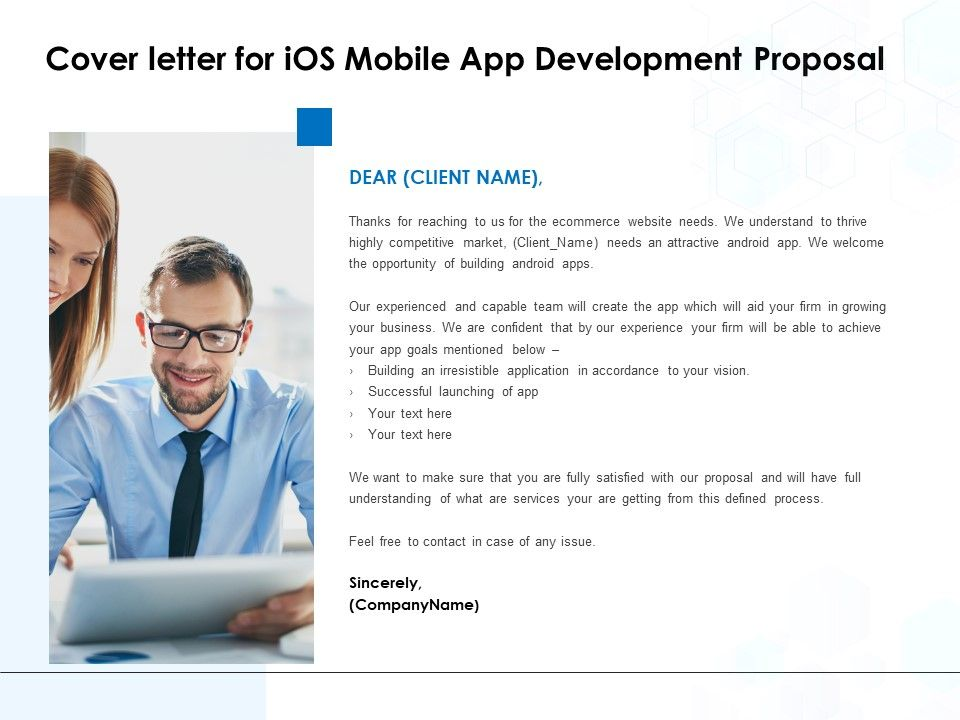 Cover Letter For Ios Mobile App Development Proposal Ppt Show Inspiration Powerpoint Presentation Designs Slide Ppt Graphics Presentation Template Designs