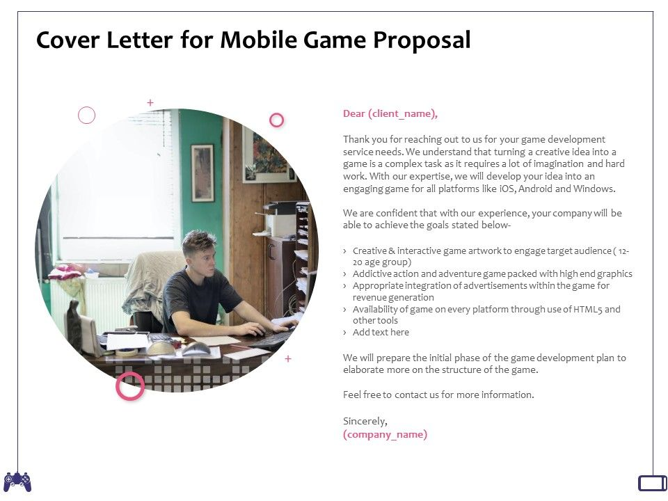 Cover Letter For Mobile Game Proposal Interactive Game Ppt Powerpoint Presentation Examples Presentation Graphics Presentation Powerpoint Example Slide Templates