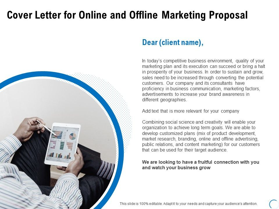 Cover Letter For Online And Offline Marketing Proposal Ppt ...
