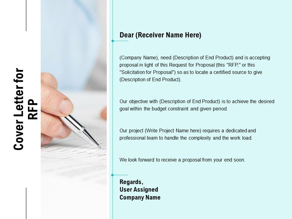 Cover Letter For RFP Ppt Powerpoint Presentation Outline ...