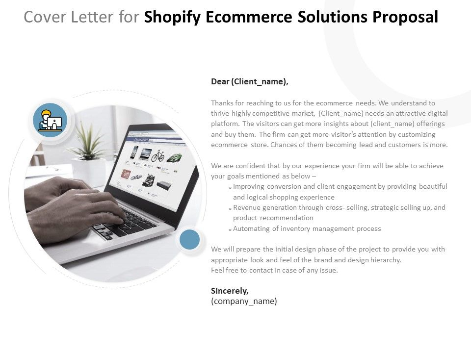 Cover Letter For Shopify Ecommerce Solutions Proposal Ppt ...