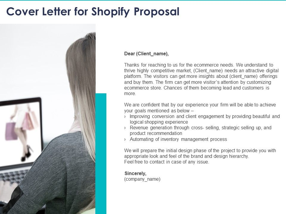 Cover Letter For Shopify Proposal Ppt Powerpoint ...